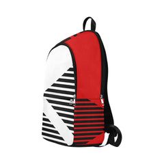 WOW | i Collection Geo Stripes High Grade Waterproof Nylon Casual Red Backpack