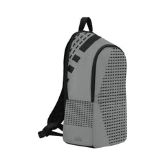 WOW | i Collection Fine Rectangular Waterproof Nylon Casual Grey Backpack