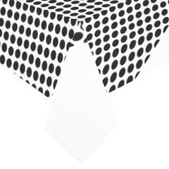 WOW | i Collection B&W Circular Heart Pattern Tablecloth 60x120 Decoration