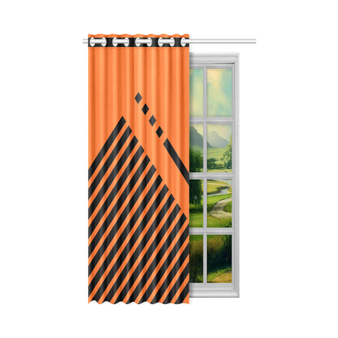 WOW | i Collection Geo Stripes 50x84 Orange Window Curtain