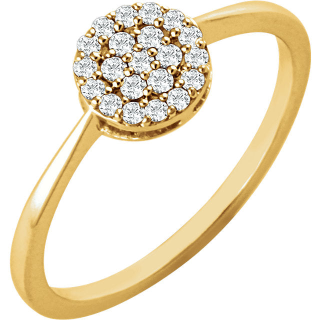 WOW Diamond Fashion | 14K - 1/5 CTW Diamond Cluster Ring