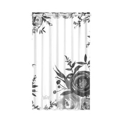 WOW | i Collection B&W Floral 50x84 White Window Curtain