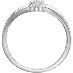 WOW Diamond Fashion | 14K White 1/3 CTW Diamond Cluster Ring