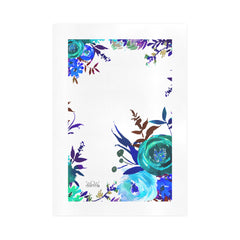 WOW | i Collection Colorful Aquamarine Floral Art Design 16x23 Print