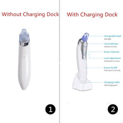 Wireless Smart Facial Blackhead Vacuum Acne Cleaner Remover Kit with Charging Dock