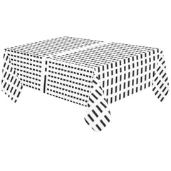 WOW | i Collection Black & White Fine Rectangular Tablecloth 60x120 Decoration