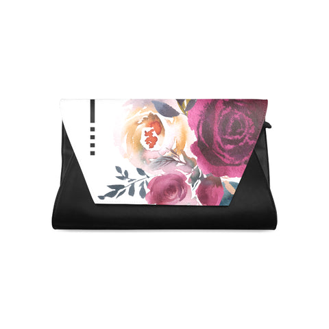 WOW | i Collection Women's Fashion Colorful Floral Pattern Clutch Bag