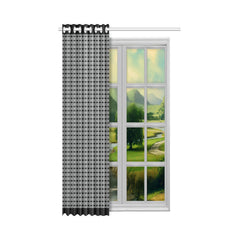 WOW | i Collection Black & Grey Fine Rectangular 50x84 Window Curtain