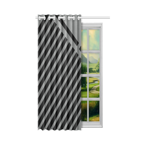 WOW | i Collection Geo Stripes 50x84 Grey Window Curtain