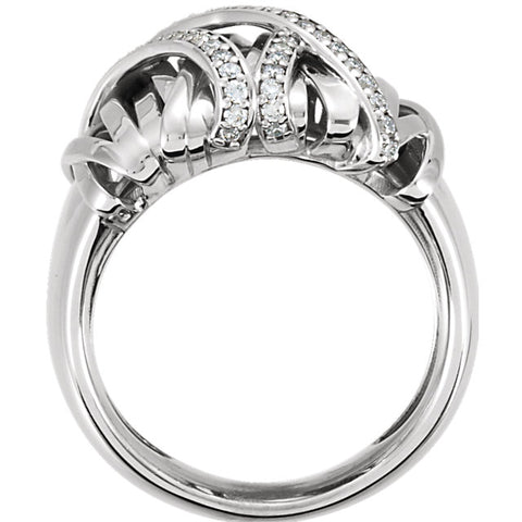 WOW Diamond Fashion | 14K White 1/2 CTW Diamond Nest Design Ring
