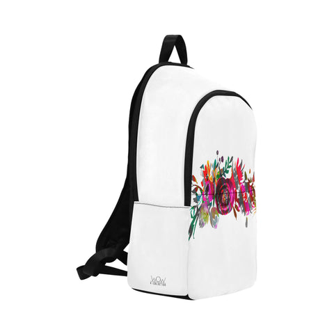 WOW | i Collection Colorful Floral High Grade Waterproof Nylon Casual White Backpack