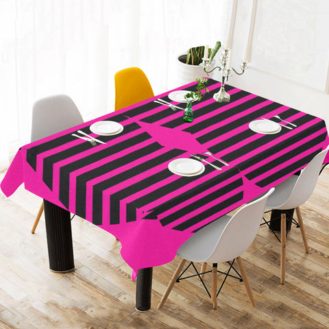 WOW | i Collection Heart Pattern Pink Tablecloth 60x120 Decoration