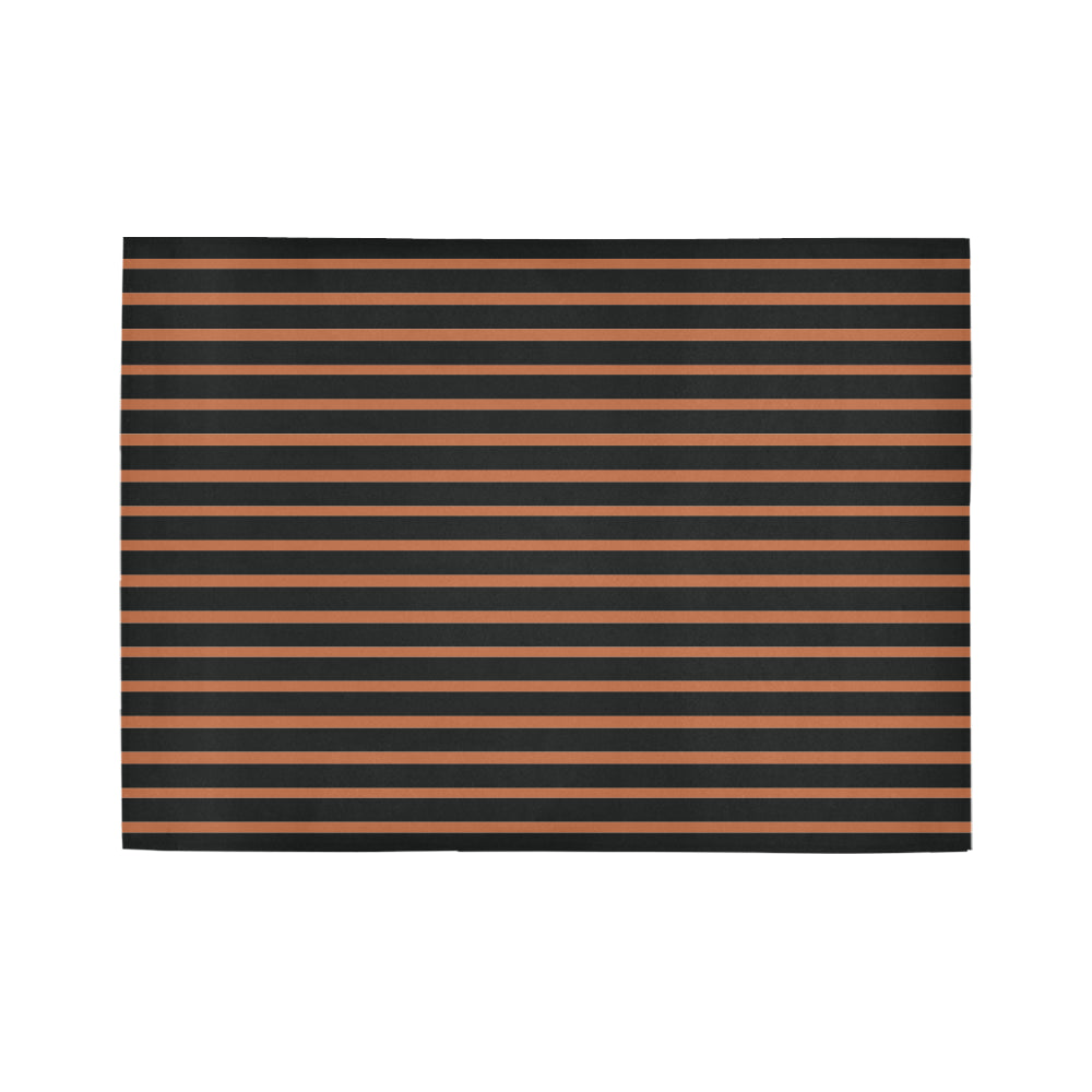 WOW | i Collection Geo Stripes Bronze Area Rug 7' x 5'