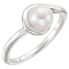 WOW Pearl Fashion | 14K White Freshwater Cultured Pearl Ring