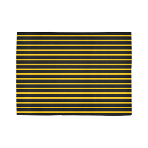 WOW | i Collection Geo Stripes Yellow Area Rug 7' x 5'