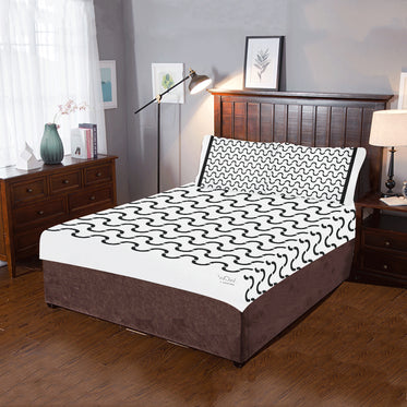 WOW | i Collection 3 Piece B&W S-Wave Pattern Bedding Set
