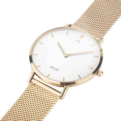 WOW | J Collection Rose Gold Steel Strap Water-resistance Quartz Watch