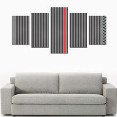 WOW | i Collection 5 Piece Stripes Pattern Wall Art Canvas Print