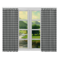 WOW | i Collection Geo Corners 52x84 2Pcs Grey Window Curtains