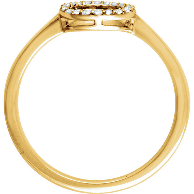 WOW Diamond Fashion | 14K - 1/10 CTW Diamond Circle Ring
