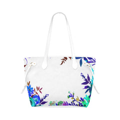 WOW | i Collection Colorful Aquamarine Floral High Grade White Classic Tote Bag