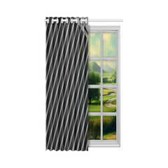 WOW | i Collection Black & Grey Angle Stripes Designer 52x63 Window Curtain