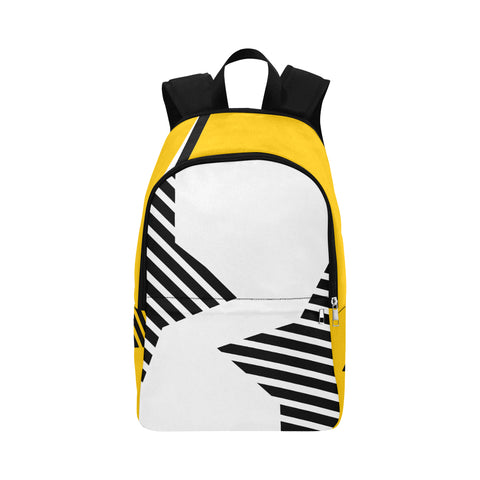 WOW | i Collection Geo Stars High Grade Waterproof Nylon Casual Yellow Backpack