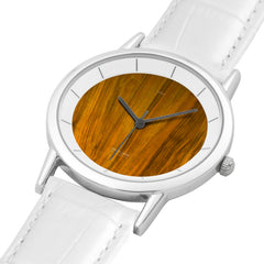 WOW | Multi Design Leather Pure White Double-layer Concise Dial Water-resistance Quartz Wood Watch
