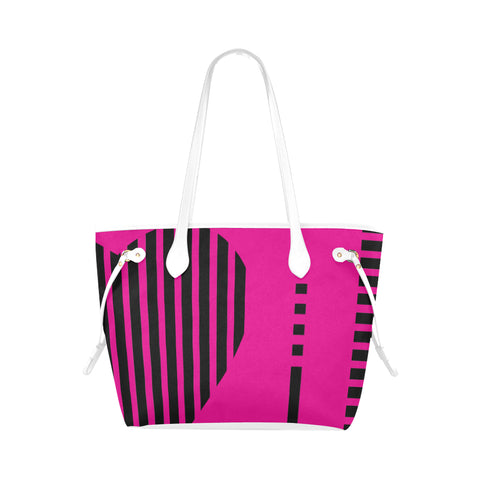 WOW | i Collection Geo Stripes High Grade Pink Classic Tote Bag