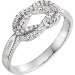 WOW Diamond Fashion | Diamond Knot Ring