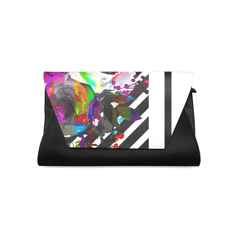WOW | i Collection Women's Fashion Colorful and B&W Clutch Bag