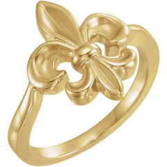 WOW Metal Fashion | Fleur-de-Lis Ring