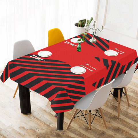 WOW | i Collection Geo Patterns Red Tablecloth 60x120 Decoration