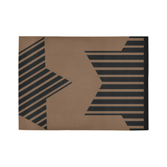 WOW | i Collection Geo Pattern Brown Area Rug 7' x 5'