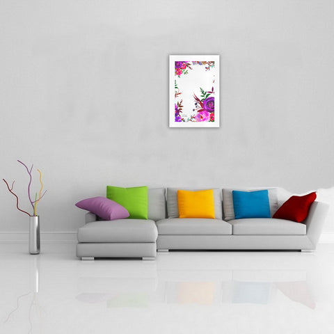WOW | i Collection Colorful Purple Floral Art Design 16x23 Print
