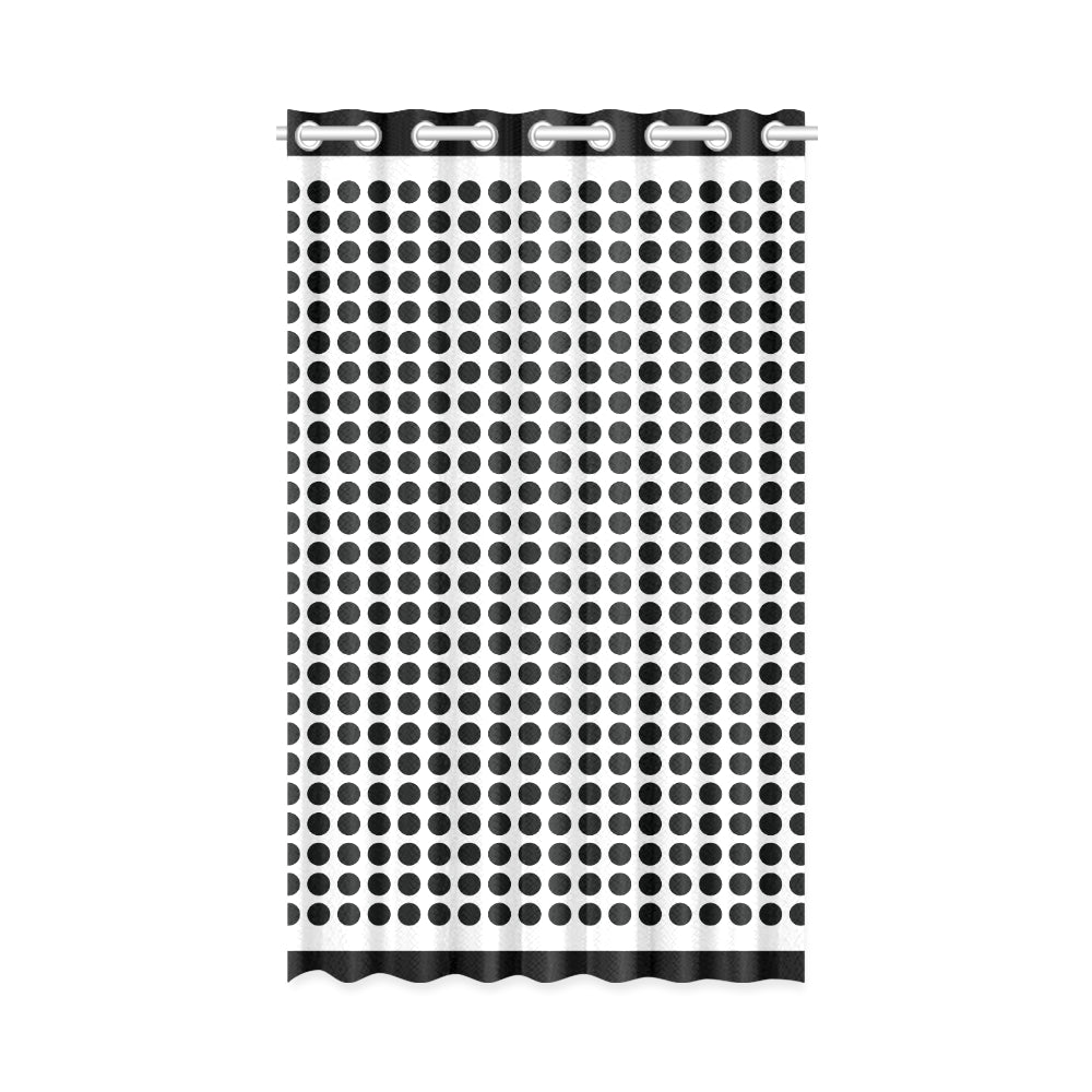 WOW | i Collection Black & White Circular 50x84 Window Curtain