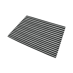 WOW | i Collection B&W Geo Stripes Area Rug 7' x 5'