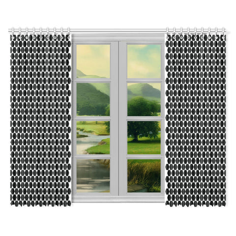 WOW | i Collection Black & White Hexi 52x84 2Pcs Window Curtains