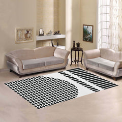 WOW | i Collection Geo Circular Pattern Area Rug 7' x 5'