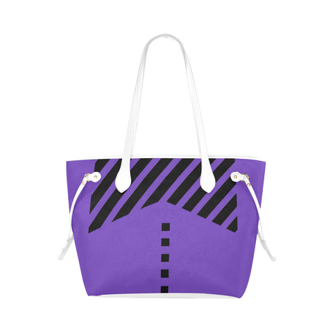 WOW | i Collection Geo Stripes High Grade Purple Classic Tote Bag