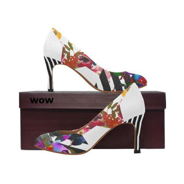 WOW | i Collection Women's Pumps High Heels Colorful B&W Colorful Shoes