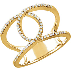 WOW Diamond Fashion | 14K - 1/5 CTW Diamond Interlocking Loop Infinity Ring