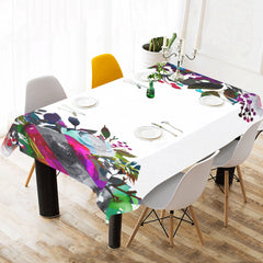 WOW | i Collection B&W Colorful Floral Tablecloth 60x120 Decoration