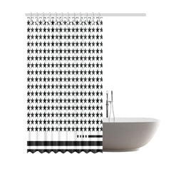 WOW | i Collection B&W Star Designer 72x84 Shower Curtain