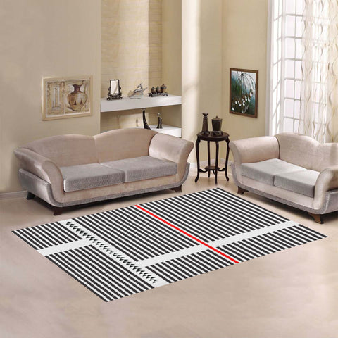 WOW | i Collection Geo R Stripes Area Rug 7' x 5'
