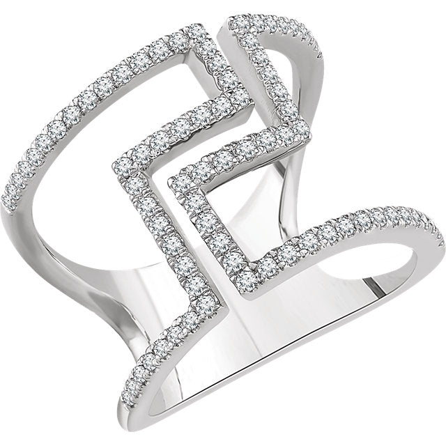 WOW Diamond Fashion | 14K - 1/2 CTW Diamond Negative Space Ring