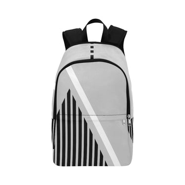 WOW | i Collection Geo Stripes High Grade Waterproof Nylon Casual Light Grey Backpack