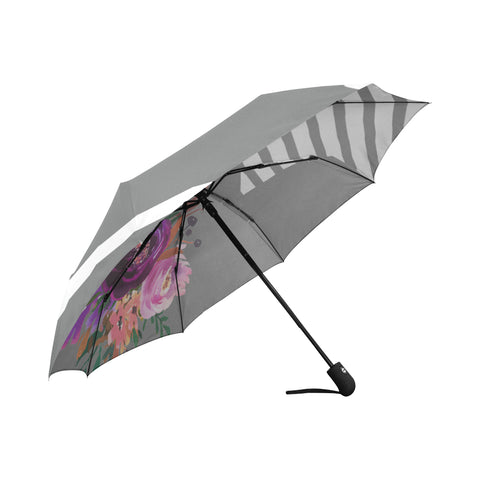WOW | i Collection Automatic Foldable Grey Pattern Floral Designer Umbrella