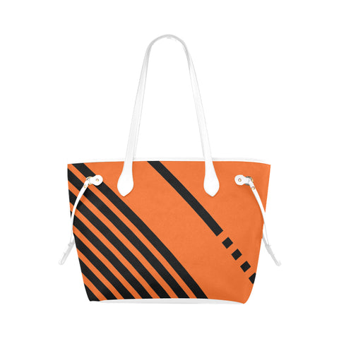 WOW | i Collection Geo Stripes High Grade Orange Classic Tote Bag