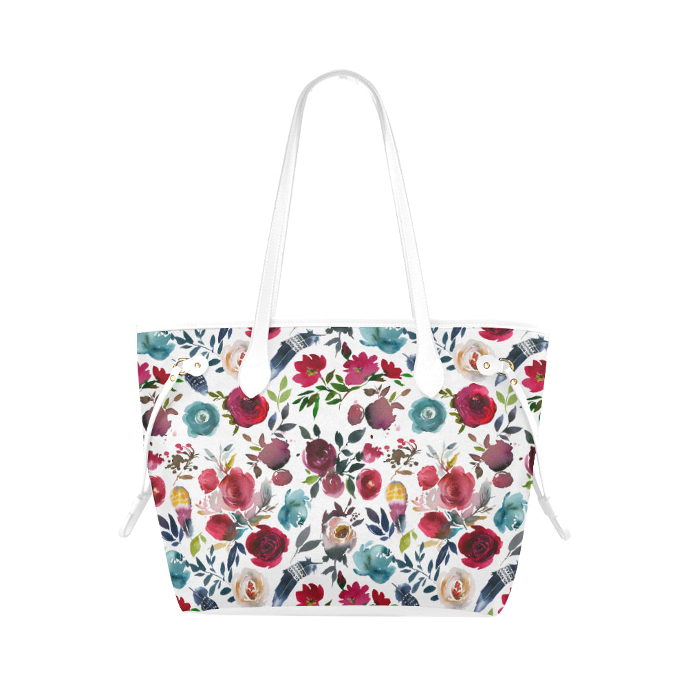 WOW | i Collection Colorful Floral Pattern High Grade B&W Classic Tote Bag
